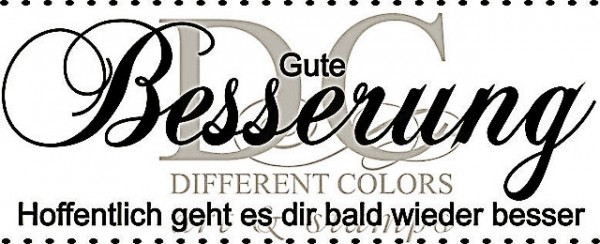 Different Colors Holzstempel Gute Besserung