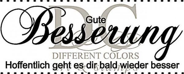 Different Colors Holzstempel Gute Besserung