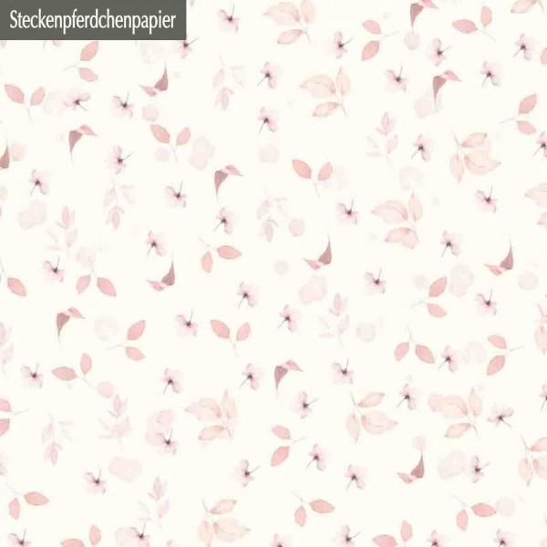 Steckenpferdchenpapier rosa Blätter