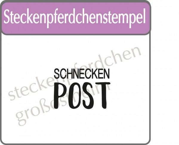Steckenpferdchenstempel Schneckenpost-1