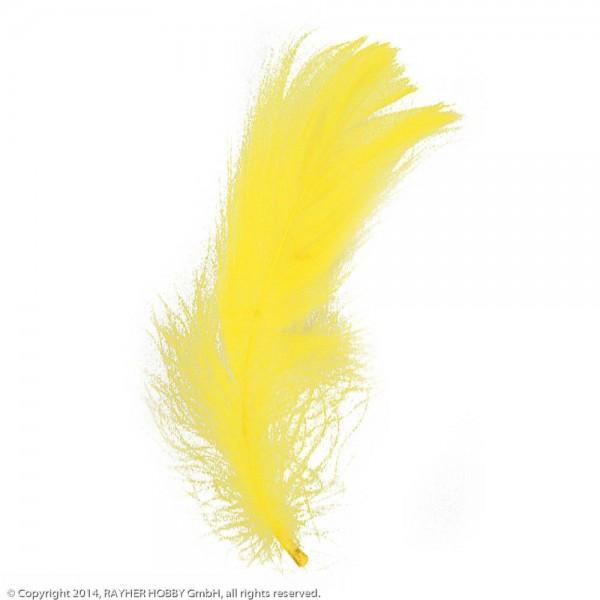 Dekofeder gelb