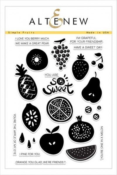 Altenew Clearstempel Set Simple Fruits
