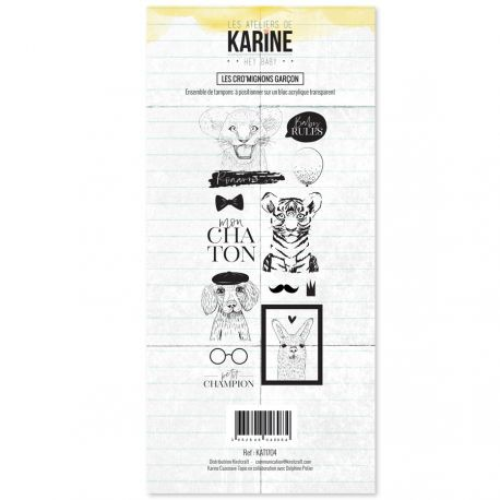 Kirelcraft Karine Clearstempel Set - Hey Baby - Les Cro`mignons Garcon