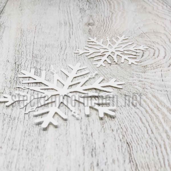 Steckenpferdchenstanze Schneeflockenset