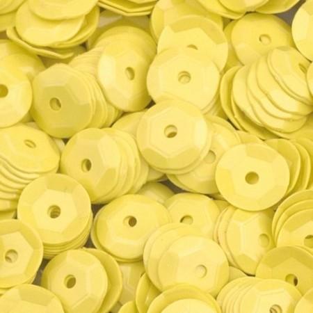 Pailletten rund gewölbt gelb
