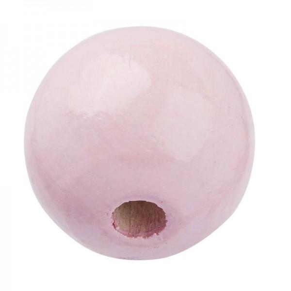 Schnulli Holzperlen 10 mm rosa