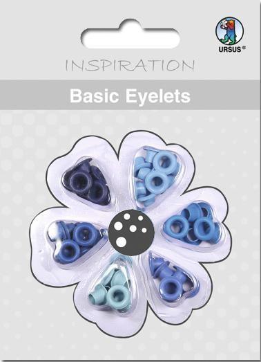 Eyelets Blautöne