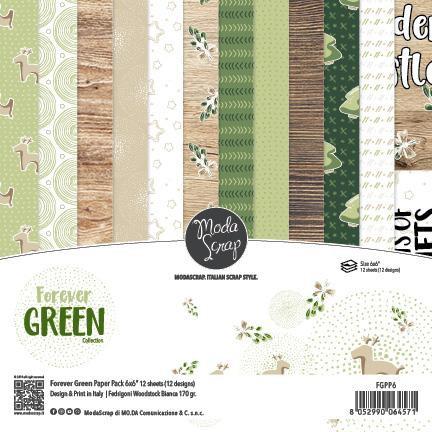 Moda Scrap Paper Pack - FOREVER GREEN