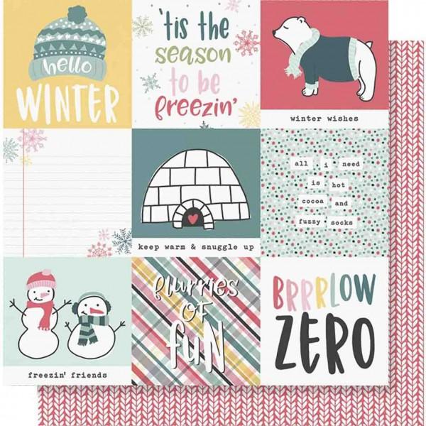 Simple Stories Freezin Season 4 x 4 elements