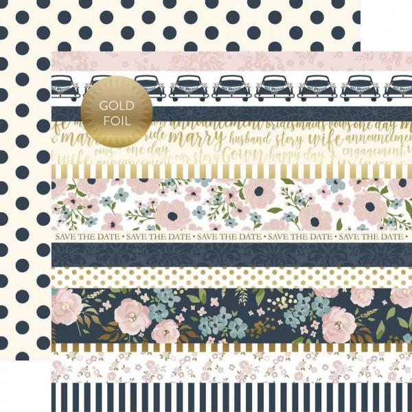 Echo Park Paper Just Married Border Strips