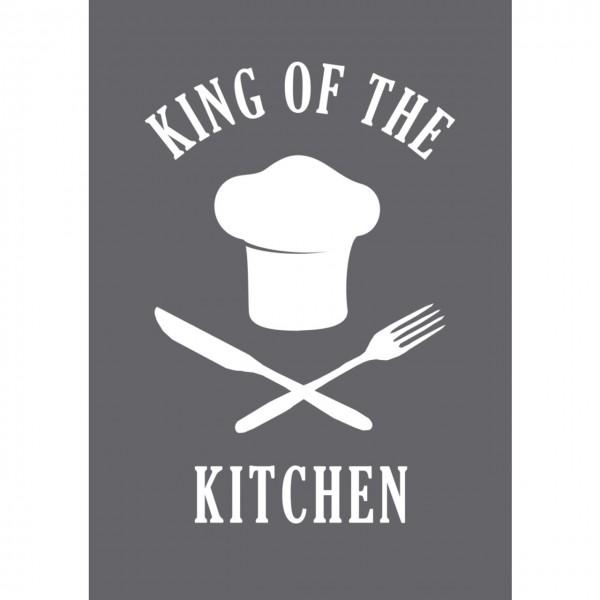 Rayher Siebdruck-Schablone King of the Kitchen