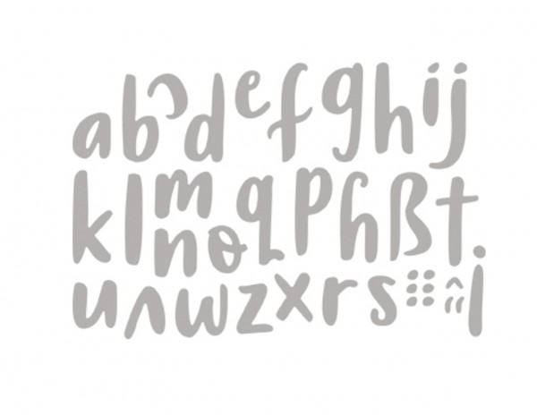 Rayher Stanzschablone Watercolour Alphabet kleinbuchstaben