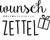 Heyda Holzstempel Wunschzettel