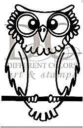 Different Colors Holzstempel Owl