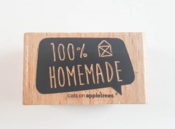 cats on appletrees Holzstempel 100 % Homemade
