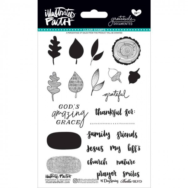 Illustrated Faith Clear stamps gratitude Documented