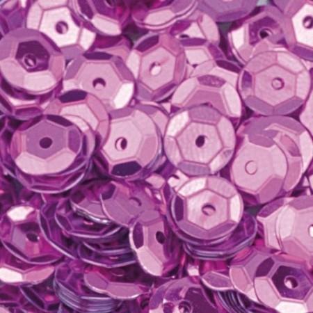 Pailletten rund gewölbt pink