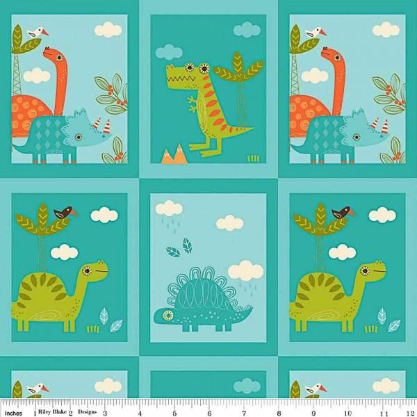 Riley Blake Dinosaur türkis Rahmen