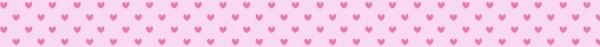 Ursus Masking Tape Herzen pink