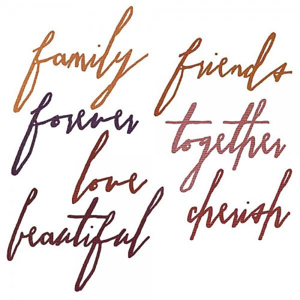 Tim Holtz Thinlits Handwritten Love