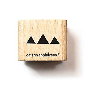 cats on appletrees Holzstempel Dreiecke