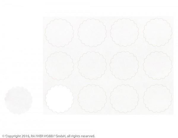 Rayher Blanko Sticker weiß