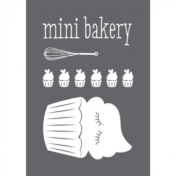 Rayher Siebdruck-Schablone mini bakery