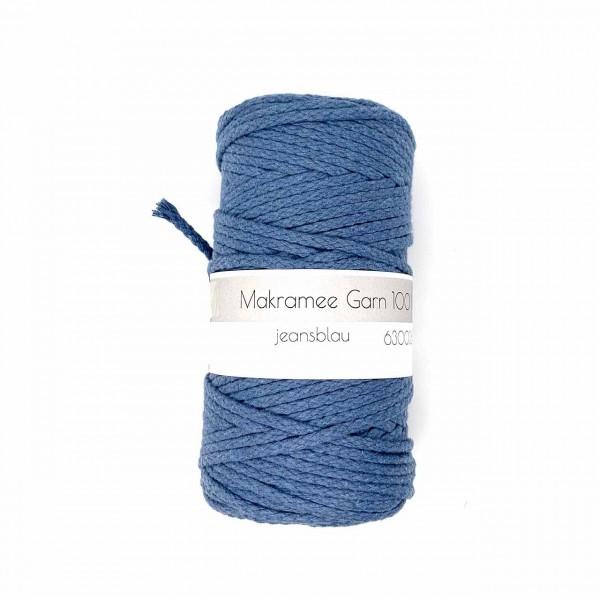 Makramee Garn 4 mm jeansblau