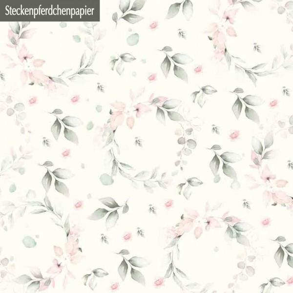 Steckenpferdchenpapier Blumenkränze