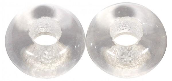 Glas Großloch PerleMagic Flair, 12mm ø bergkristall