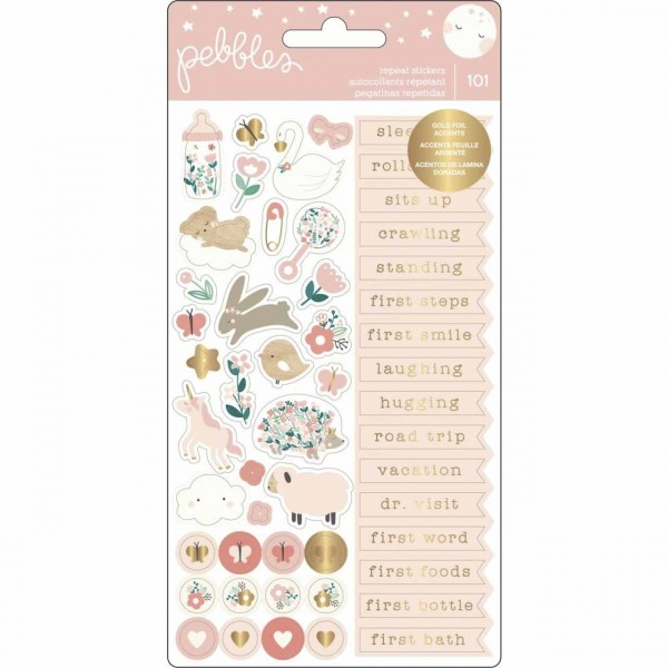 American Craft Pebbles Repeat Stickers Girl