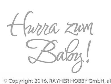 Rayher Stanzschablone Hurra zum Baby