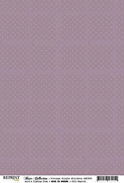 Reprint Hobby Basic Collection Vintage Purple Minidots