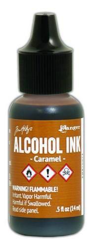 Alcohol Ink Caramel