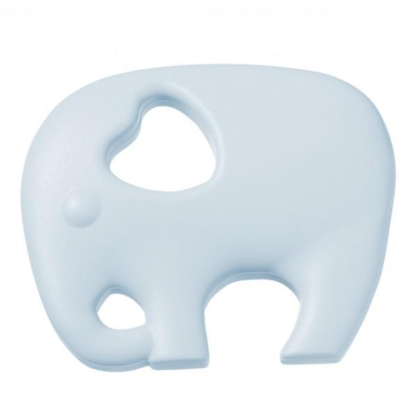 Schnulli-Silikon Elefant hellblau