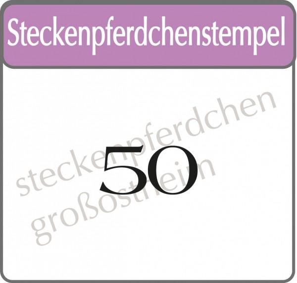 Steckenpferdchenstempel 50