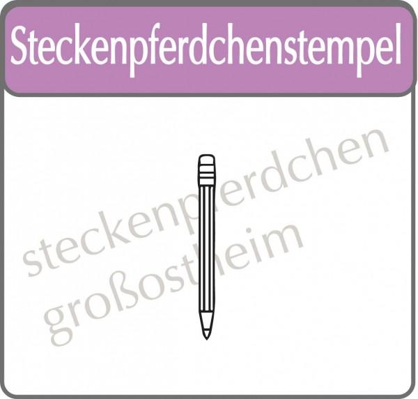 Steckenpferdchenstempel Buntstift